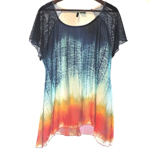 new directions Tops - New Directions Woman 1X Plus Mesh Long Top Tunic